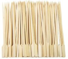 More details for bamboo skewers bbq grill set wooden paddle disposable choose size 9cm 15cm 18cm