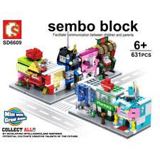 Sembo City Street Flower Pharmacy Barber Baby Mini Shop Blocks Building Toy 8pcs