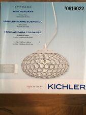 KICHLER Krystal Ice Mini Pendant Chrome Finish Clear Crystal Accents 0616022 NEW