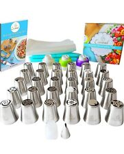 Russian Piping Nozzles Set 57pcs by Cremiel: Premium Stainless-Steel Cake Icing