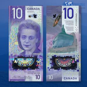 CANADA 10 Dollars 2018 UNC, P-New, Polymer Vertical Banknotes, Viola Desmond