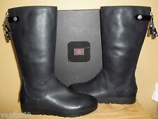 Tsubo Eilis Black Leather Women's Water-Resistant Boots New NIB US 10 /EU 41