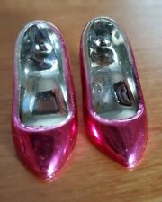 Vintage Hasbro Jem & the Holograms Pair of Pink Metallic Shoes/Pumps!