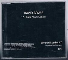 DAVID BOWIE 17-TRACK ALBUM SAMPLER UK PROMO CDLRL015 EMI 1999 CD