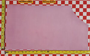 """AUTHENTIC HORWEEN 6 oz ORCHID DRYDEN LEATHER HIDE, 22.5"""" x 12.5"""" NAT. QLTY."""