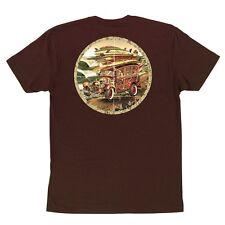 Santa Cruz Look Out Skateboard Shirt Dark Chocolate Large