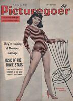 Marrigold Russell  Cover, Vintage Picturegoer Magazine, Mar 1957, Marilyn Monroe