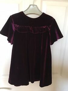 Girls Next Velvet Dress Age 3-4 Years
