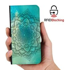 RFID Protected Mandala C PU Leather Phone Wallet Case Cover Samsung Galaxy