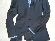 ARMANI COLLEZIONI Men's Navy Stripe Two-Button 100% Wool Suit 40R 32W