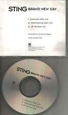 The Police STING Brand New Day AMERICAN & INTERNATIONAL EDITS PROMO DJ CD single