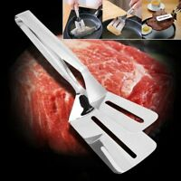 Multi-function Food Grade Stainless Steel BBQ Tongs Barbecue Bread Beef Ste C4O7