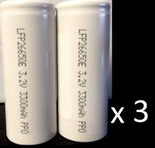 "Brand New ""46""  LFP26650E LiFePO4 26650 3.2V 3300mAh Rechargeable Battery"