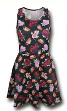 Marvel Women's Deadpool Tacos & Roses Small Sleeveless Costume Dress Cosplay