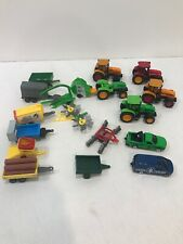 Random Lot Die cast & Plastic Toy Farm Vehicles Tractors Attachments Implements