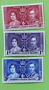 GILBERT ELLICE ISLAND 1937 ** NICE** Coronation George VI & Elizabeth KGVI. MHR