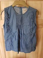 Girls Primark Blue Summer Denim Dress 10-11 Years