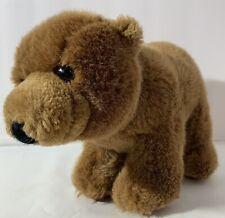 "Vintage Dakin Kodiak Brown Bear Plush 7"" RARE 1986"
