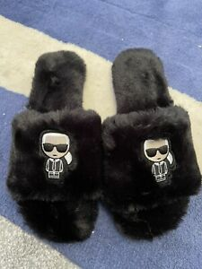 Karl Lagafeld Slippers Black Size 7