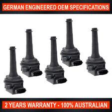 5x Ignition Coil Volvo C70 S60 S70 S80 Volvo V70 XC70 XC90 Turbo with Black Plug