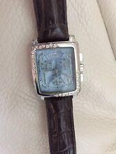 Ladies Giantto Chronograph Stainless Steel & CZ stones Bezel Watch