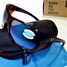 f7f8de2c0678 Costa Del Mar Rooster Polarized Sunglasses-Tortoise Blue Mirror 400G Glass  Lens