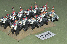 25mm napoleonic  cuirassiers 12 cavalry (5795) metal painted