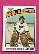 1976-77 OPC # 168 BLUES YVES BELANGER ROOKIE EX+  CARD  (INV# C4945)