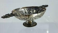 Antique 18th Century Silver Dutch Repousse Heraldric Brandy Bowl Dish