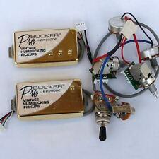 ProBucker Alnico Neck&Bridge Pickups with Wiring Harness Pots /w 3 Way Switches