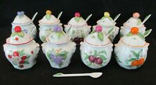 Vintage 1991 Lenox~Orchard Jam Jelly Jar(s) w/Spoons~5 Left~Fruits-Berries