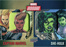 Marvel Annual 2016 Character Patch Chase Card DCP-1 Captain Marvel She-Hulk