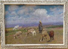 "PANERAI Ruggero (1862-1923) "" Scène de pâturage à Montepiano "" - Italie"