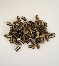 New! 100 pcs Crimp Beads Bronze Tone End Caps 13mm X 8mm Jewelry Bead Item #29
