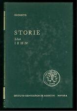 ERODOTO STORIE LIBRI I II III DE AGOSTINI 1959  CLASSICI GREI E LATINI