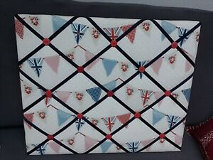 2 X Handmade Fabric Padded Notice/Memory Boards