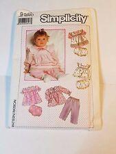 Simplicity 9351, UNCUT, 1989 Vintage, Baby Clothes, Size 18MO