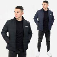 Mens Jackets Zip Up Slim Fit Bubble Coat Plain Padded Puffer Winter Warm Coats