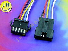 KIT BUCHSE+STECKER 5 polig / ways verdrahtet  Male+Female Connector wired #A913