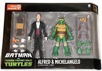 DC Collectibles Batman vs TMNT: Alfred & Michelangelo Action Figure 2-Pack NEW