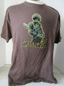 2005 Jimi Hendrix Brown T-Shirt Size Large