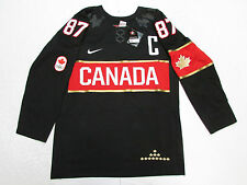 SIDNEY CROSBY TEAM CANADA BLACK SOCHI 2014 OLYMPICS NIKE HOCKEY JERSEY SZ MEDIUM