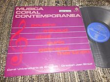 CORAL UNIVERSITARIA GRENOBLE JEAN GIROUD POULENC+MILHAUD+ABSIL+3 LP 1968 SPAIN