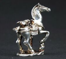 OLD HANDWORK MIAO SILVER CARVING HORSE WONDERFUL STATUE
