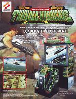 KONAMI THUNDER HURRICANE VIDEO ARCADE GAME ADVERTISING SALES FLYER BROCHURE 1997