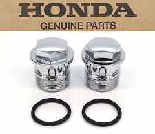 Genuine Honda Chrome Fork Bolt Caps CB450 500 550 750 MT XL CR250 (See Notes)H13