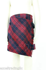 JACADI Girl's Redoute Navy Blue & Red Plaid Skirt Age: 4 Years NWT $68