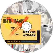 Marked Woman Bette Davis, Humphrey Bogart DVD Film Thriller 1937