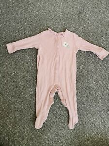 Next baby girl sleepsuit 3-6 Months Pink