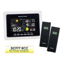 Weather Station Temperature Humidity DCF77 RCC 2 Wireless Indoor/Outdoor Sensor